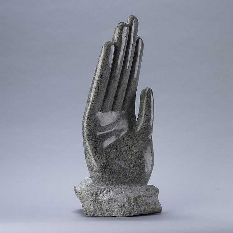 OVILU TUNNILLIE (1949-), UNTITLED (HAND), stone, 18