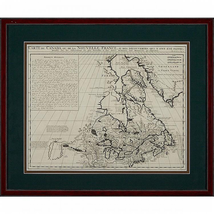 Henry Abraham Chatelain (1684-1743), CARTE DU CANADA OU DE LA NOUVELLE FRANCE, ET DES DÉCOUVERTS QUI Y ONT ÉTÉ FAITES, 1719, 16.25