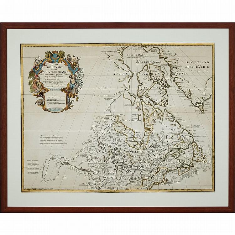 Guillaume De l'Isle (1675-1726), CARTE DU CANADA OU DE LA NOUVELLE FRANCE ET DES DECOUVERTES QUI Y ONT ÉTÉ FAITES, 1745, sight 20