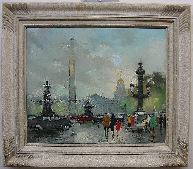 FRANCOIS CLAVER (FRENCH, 1918-) PLACE DE LA
