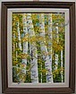 CHRIS MacCLURE (CANADIAN, 1943-) ASPENS; ACRYLIC, Chris MacClure, Click for value