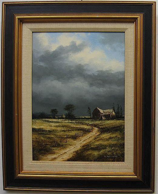 RUDI REICHARDT (CANADIAN, 1929-) SUMMER STORM; OIL