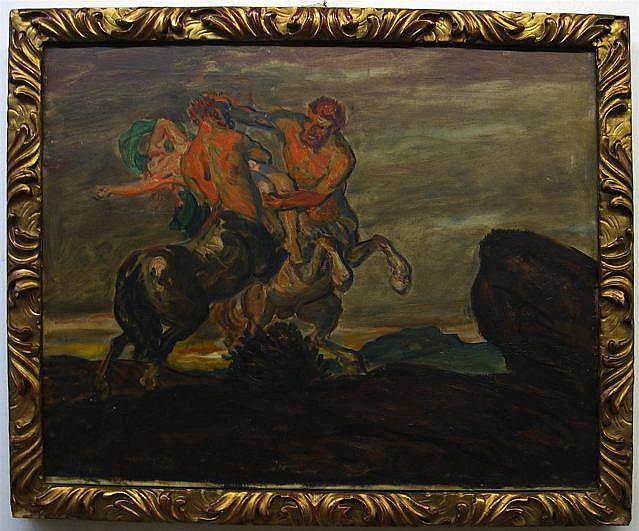 MAX KUSCHEL (GERMAN, 1862-1935) CENTAURS IN BATTLE