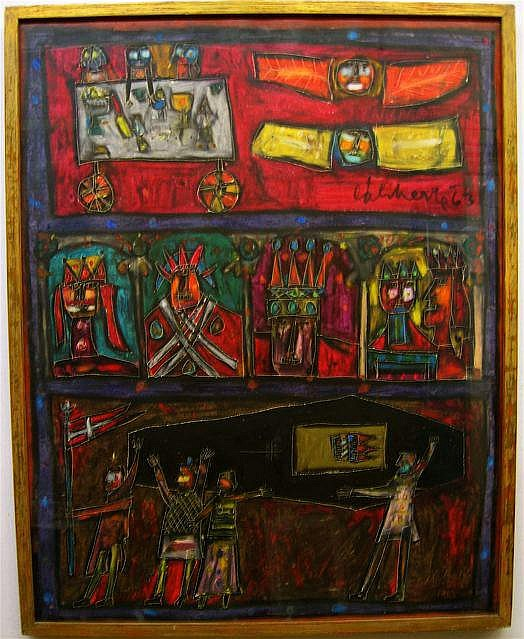 NORMAN LALIBERTE (CANADIAN, 1925- BURIAL; OIL ON