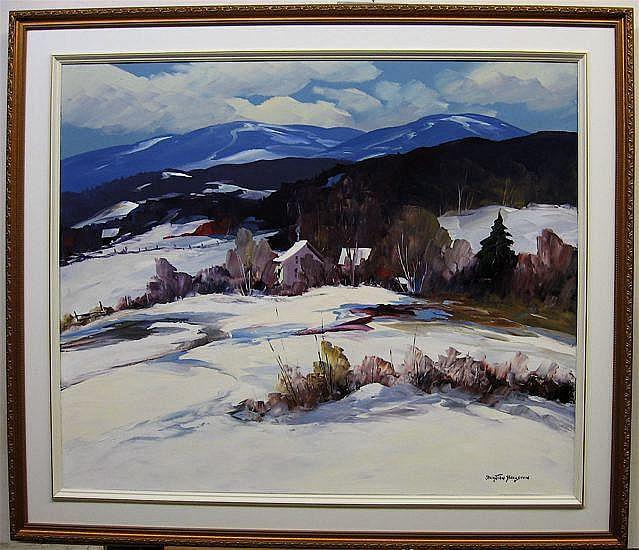 CHRISTIAN BERGERON (CANADIAN, 1945-) PAYSAGE