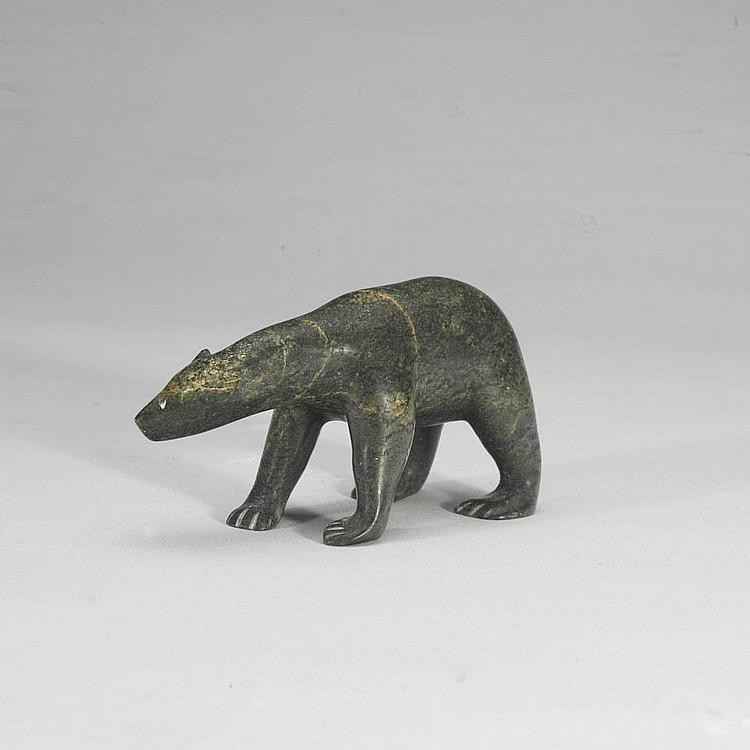 SAILA KIPANEK (1948-), BEAR, stone, 3.25