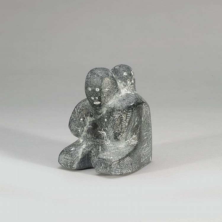 MARC ALIKASWA (1928-), MOTHER AND CHILD, stone, 5