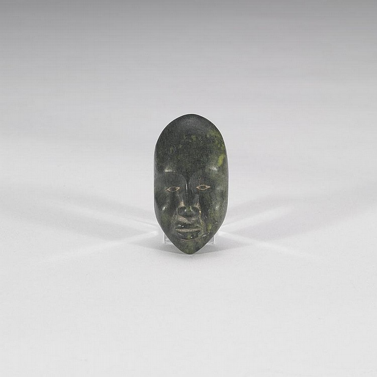 Possibly KUPPAPIK RAGEE (1931-), FACE, stone, 3.25