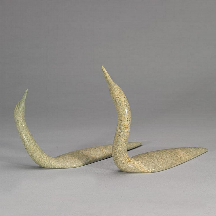 MIKISITI SAILA (1939-2008), LOONS, stone, 8.25