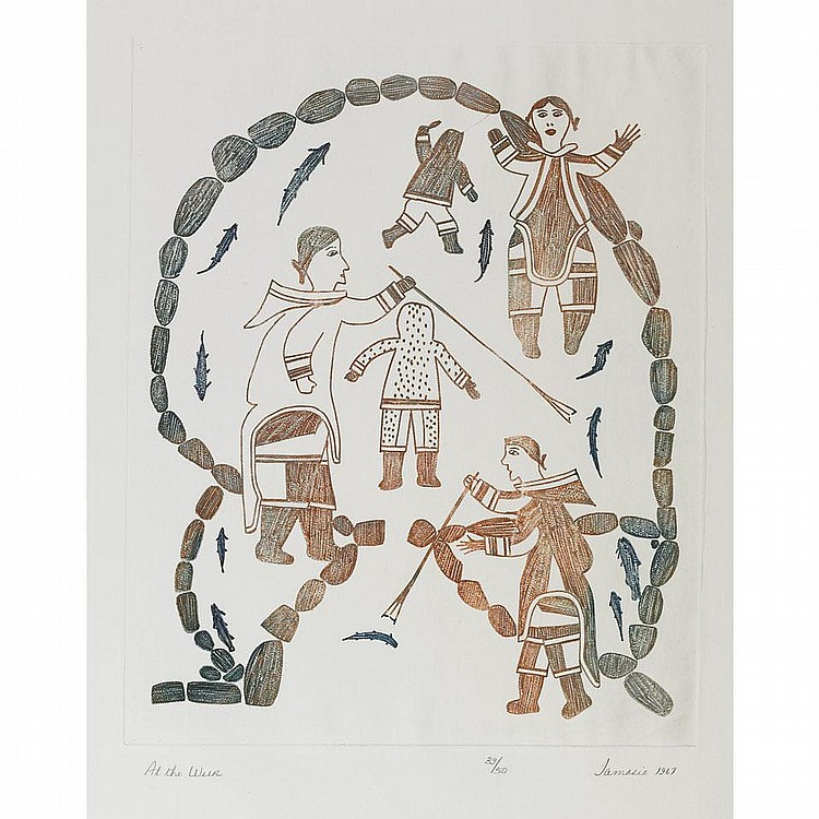 JAMASIE TEEVEE (1910-1985), E7-977, Cape Dorset AT