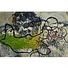 SUSANNA HELLER, BLACK CLOUD REACHES BROOKLYN, mixed media on canvas, 14 ins x 21 ins; 35.6 cms x 53.3 cms, Susanna Heller, Click for value