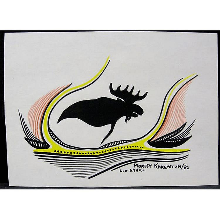 MORLEY KAKEPETUM (NATIVE CANADIAN, 1936) THE MOOSE