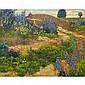 FRANK HANS JOHNSTON, O.S.A., A.R.C.A., THE FLOWERY PATH, oil on board, 10.75 ins x 13.75 ins; 26.9 cms x 24.4 cms