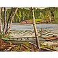 ALEXANDER YOUNG JACKSON, O.S.A., R.C.A., VAN BRUGH LAKE, 1966, oil on panel, 10.5 ins x 13.5 ins; 26.3 cms x 33.8 cms