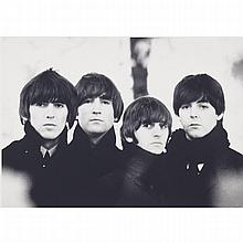 "Robert (Bob) Freeman (1936-), THE BEATLES '64, 1988, Gelatin silver print; signed and dated '88. in blue pen and ink to margin, inscribed ""Bob Freeman/London"" in pencil to the backboard, Image/Sheet 8.4"