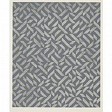 "Anni Albers (1899-1994), PO. II, 1973, Colour silkscreen and photo offset on heavy wove paper; signed, titled, dated 1973 and numbered ""PO. II 9/30"" in pencil to margin, Image/Sheet 14.9"