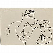 Harold Barling Town (1924-1990), GIRL WITH BICYCLE (TWO FROM FRENCH POSTCARD SERIES), 1971, Two lithographs on paper; the first, signed, dated 71 and numbered Artist's Proof #2 in pencil to the bottom edge, the second, signed, dated 71 and numbered