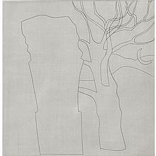 Ben Nicholson (1894-1982), TREE, COLUMN AND MOON (PL. 10 FROM BEN NICHOLSON 3), [LAFRANCA, 58], Etching and aquatint on BFK Rives wove paper with the François Lafranca blindstamp lower left; signed and numbered 48/50 in pencil to margin. Published
