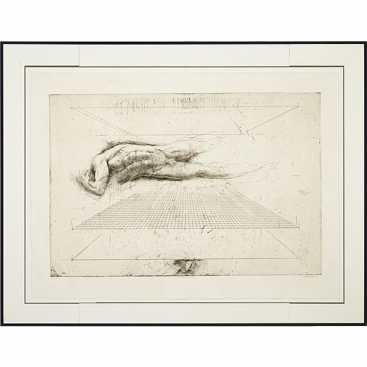 Trevor Southey (1940- ), TWO NUDES: SHELL SHEDDING; PASSAGE, Two drypoint etchings; each signed, titled and numbered 55/55 and 53/55 respectively in pencil to margins, Plate 23.5