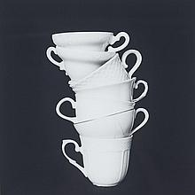 April Hickox (1955- ), WHITE TEA CUPS #2 (FROM PORCELAIN, CRYSTAL, GLASS SERIES),  2002, Gelatin silver print; signed, titled,  dated 2002 and numbered 4/7 in pencil verso, Image/Sheet 17