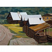 ALAN CASWELL COLLIER, O.S.A., R.C.A., LEE'S CORNER, CHILCOTIN ROAD, oil on canvas, 24 ins x 32 ins; 61 cms x 81.3 cms