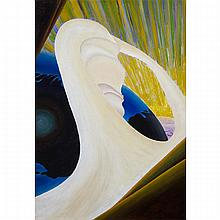 BERTRAM BROOKER, R.C.A., CREATION, C. 1927, oil on illustration board, 24 ins x 17 ins; 61 cms x 43.2 cms