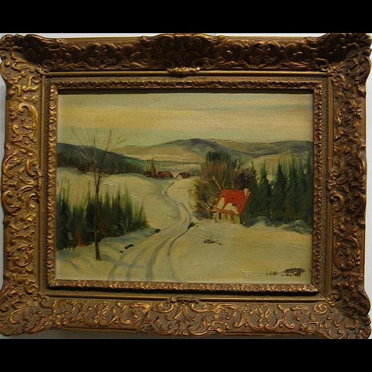 SYDNEY BERNE (1921-) CANADIAN WINTER VIEWS; PAIR