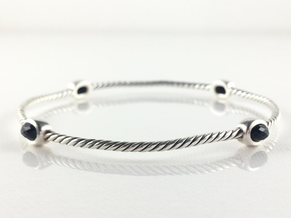 David Yurman Sterling Black Onyx Bracelet