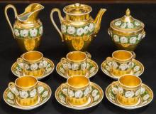 A Fifteen-Piece Louis Philippe Partial Gilt Paris Porcelain