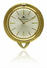 A 18K SOLID GOLD JAEGER LECOULTRE PENDANT WATCH
