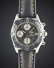 A GENTLEMAN'S STAINLESS STEEL BREITLING CHRONO COCKPIT CHRONOGRAPH WRIST WATCH
