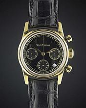 A GENTLEMAN'S 18K SOLID GOLD MANUFACTURE GIRARD PERREGAUX AUTOMATIC CHRONOGRAPH WRIST WATCH
