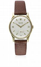 A GENTLEMAN'S 9CT SOLID GOLD ROLEX PRECISION WRIST WATCH