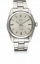 A GENTLEMAN'S STAINLESS STEEL ROLEX OYSTER PRECISION BRACELET WATCH
