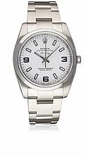 A GENTLEMAN'S STAINLESS STEEL ROLEX OYSTER PERPETUAL AIR KING BRACELET WATCH