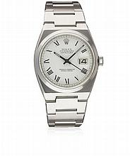A GENTLEMAN'S STAINLESS STEEL ROLEX OYSTERQUARTZ DATEJUST BRACELET WATCH