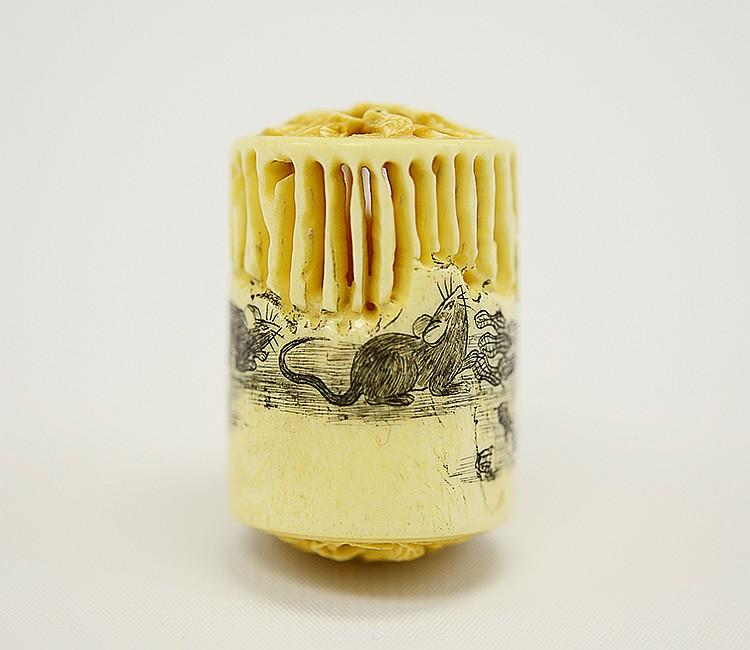 19th Century Japanese Ivory Sachet