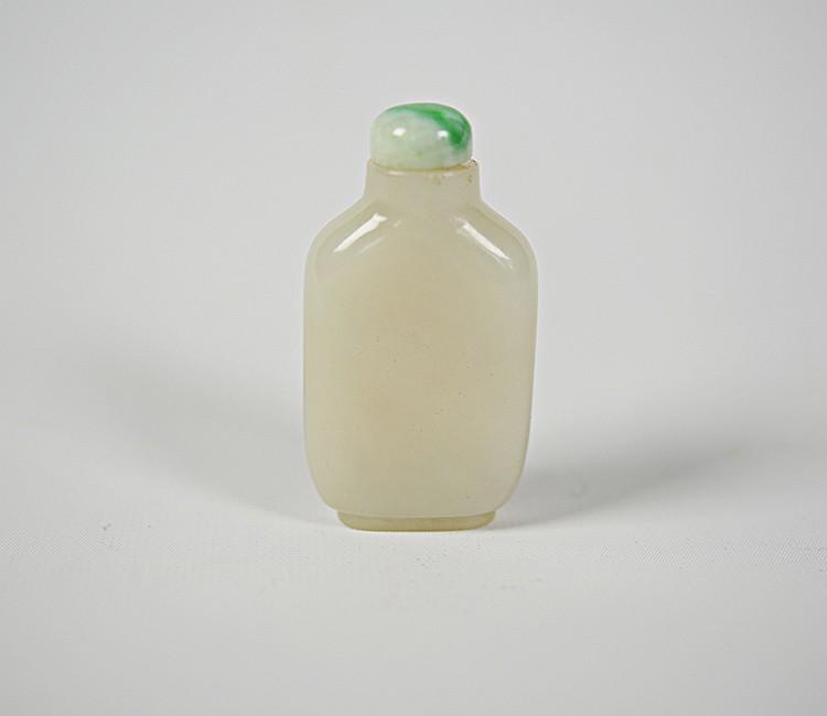 19th Century Chinese White Jade Snuff Bottle