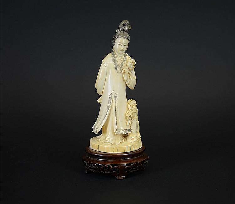 19th Century Chinese Ivory Female Figure