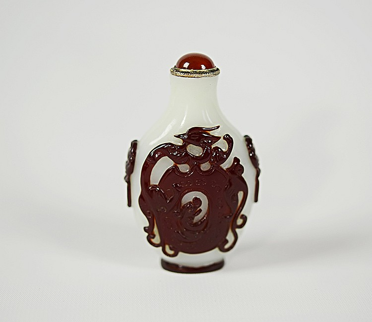 19th Century Chinese Peking Glass Snuff Bottle