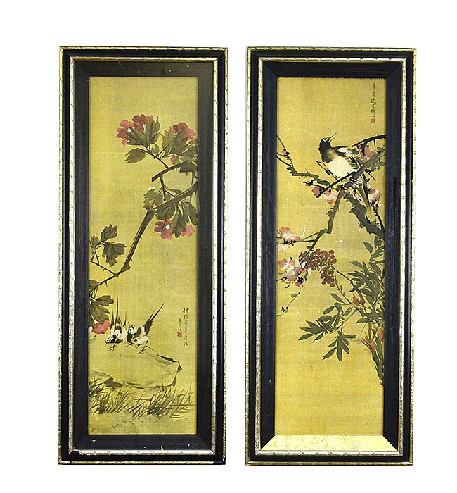 Zhu Menglu (1826-1900), Birds & Prunus Flowers