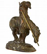 A Cast Iron Indian Warrior
