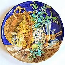 A 19th Century Italian Ginori Maiolica Charger