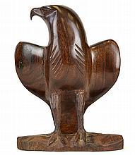 A Carved Mahogany Eagle