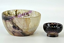 A Pair of English Blue John Bowls