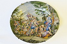 A Large Majolica Charger with Classical Scene