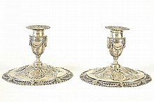Early 19th C. English Sterling Silver Candlesticks