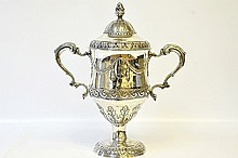 A Matthew West Sterling Silver Trophy Urn
