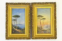 Achille Solari, Views of Capri and Naples