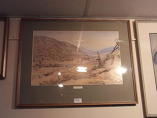 Christopher Aubrey  Akatarawa Valley  print